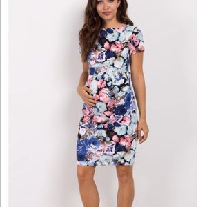 Floral Fitted Maternity Dress